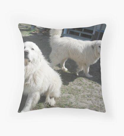 Duke and Frost, the Snowmen Throw Pillow
