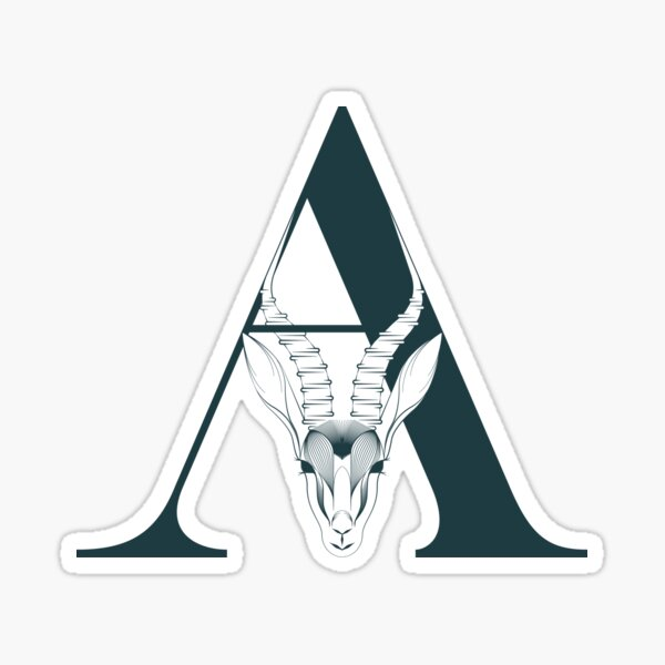 Letter A stands for Antelope Sticker