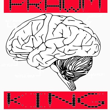 pk- brain white letters by prawmking
