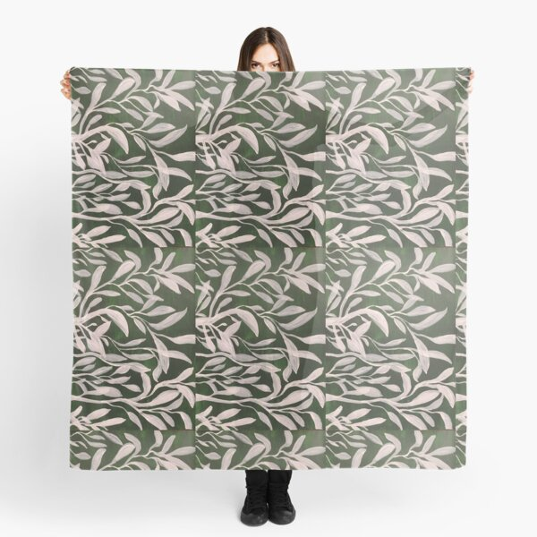 Moonlit Leaves in Grass Scarf