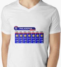 Philadelphia Weather Report Men's V-Neck T-Shirt