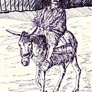Egyptian Donkey Rider by Randy Sprout