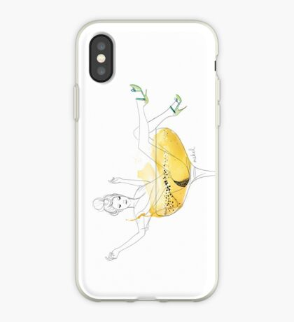 Girl in a champagne glass iPhone Case