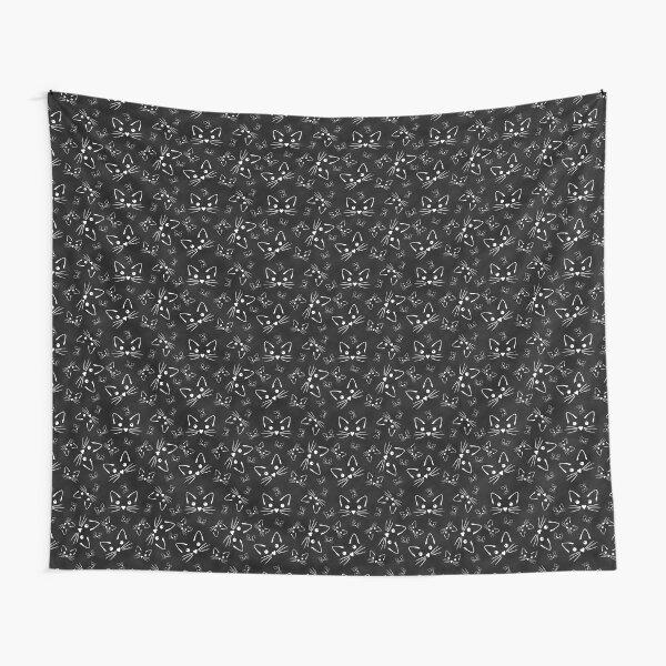 All the Kitties in Black Tapestry