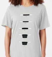 German Sedans (B8, B7, B6, B5, 4C) simple front end design Slim Fit T-Shirt