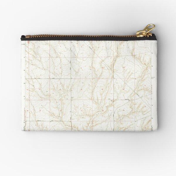 USGS Topo Map Washington State WA Lenzie Ranch 241978 1965 24000 Zipper Pouch