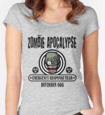 Zombie Emergency Response Team 666 Women's Fitted Scoop T-Shirt