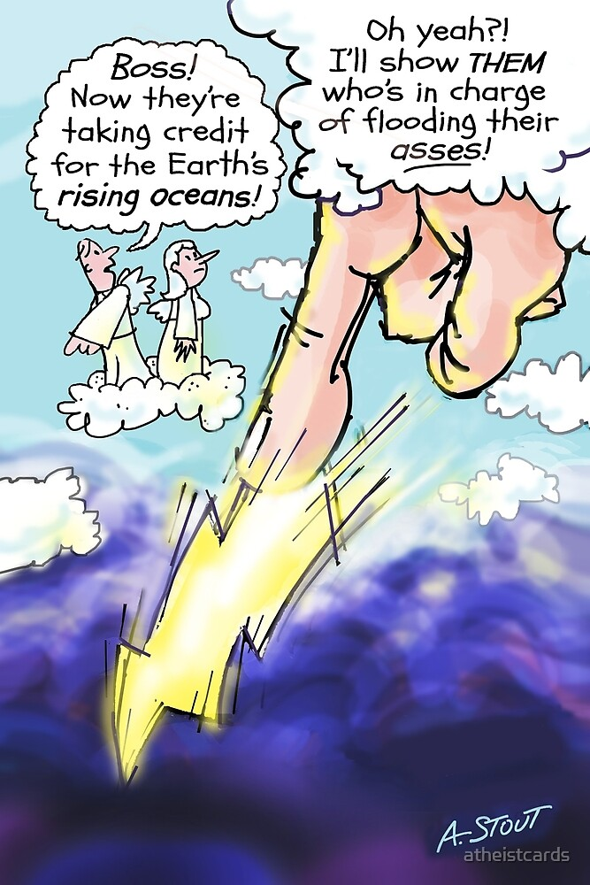 Ungodly Climate Change! by atheistcards