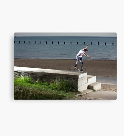 Mikey Taylor - Sw 180 Nosegrind - Photo: Sam McGuire Canvas Print