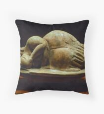 The Sleeping Lady of Malta Throw Pillow