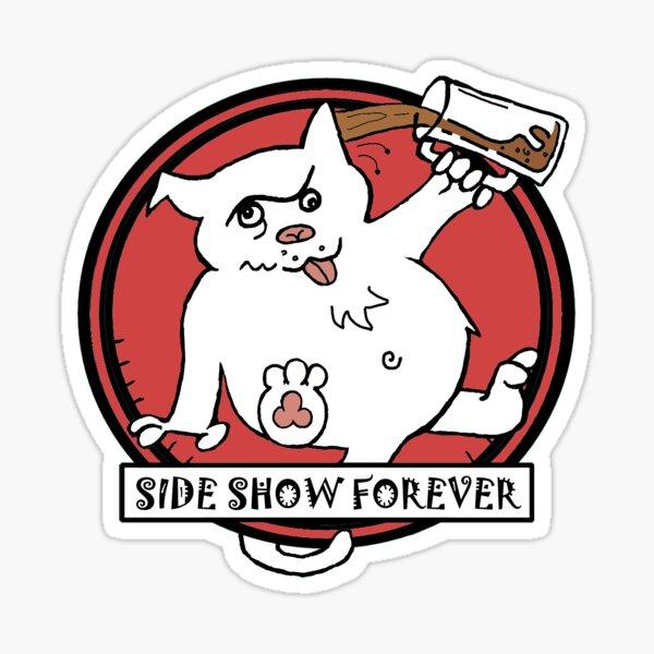 SIDE SHOW RED Sticker
