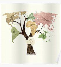 Earth Tree (Birds) Poster