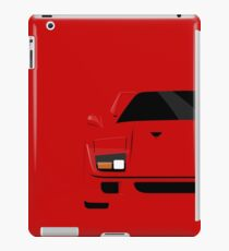 Italian supercar simplistic front end design iPad Case/Skin