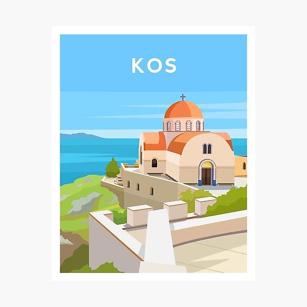 Kos, Greece - Greek Island Church Photographic Print