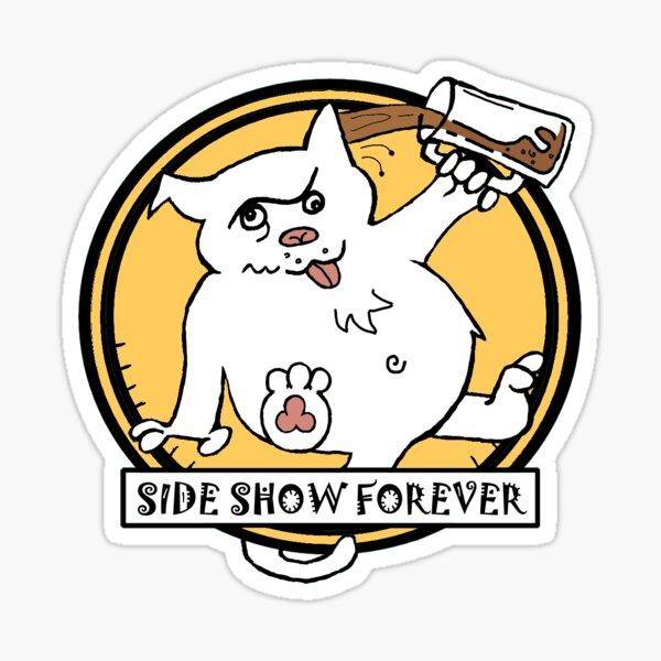SIDE SHOW YELLOW Sticker