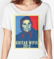 Guitar Wifie for President 2012 Women's Relaxed Fit T-Shirt