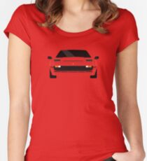 Italian supercar simplistic front end design 2 Women's Fitted Scoop T-Shirt