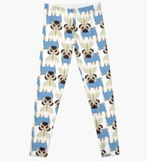Hanukkah Pugs with Menorah Leggings