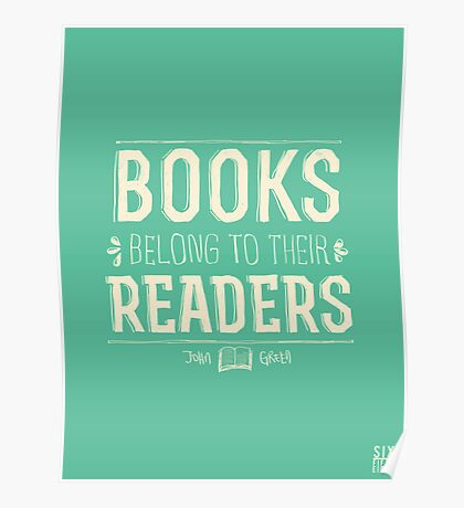 Books Belong To Their Readers Poster