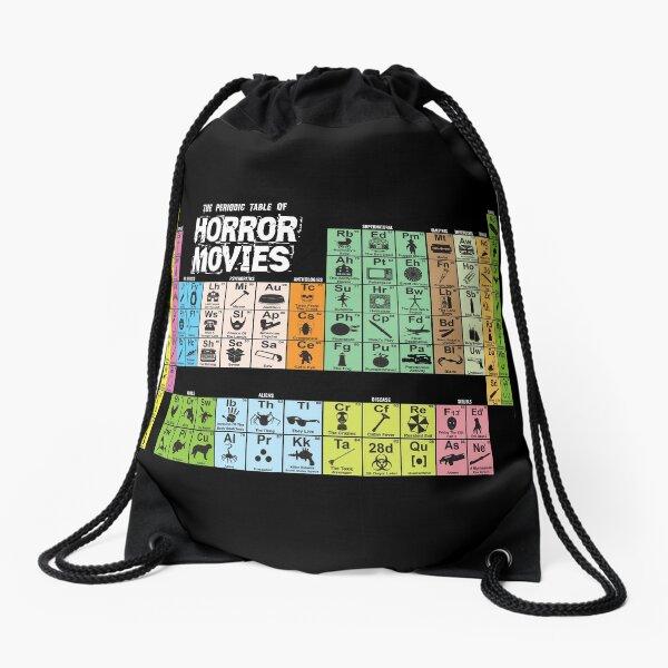 Periodic Table of Horror Movies Drawstring Bag