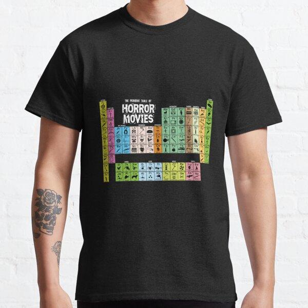Tabla periódica de películas de terror Camiseta clásica