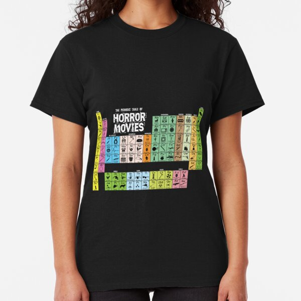 Periodic Table of Horror Movies Classic T-Shirt