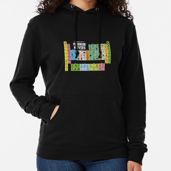 Periodic Table of Horror Movies Lightweight Hoodie
