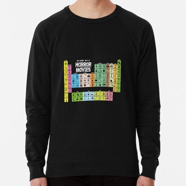 Periodic Table of Horror Movies Lightweight Sweatshirt