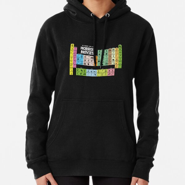 Periodic Table of Horror Movies Pullover Hoodie