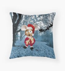 Topo Gigio CHRISTMAS SURPRISE PICTURE AND OR CARDS,PRINTS ECT Throw Pillow