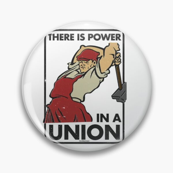 Il y a du pouvoir dans une union (loisirs de vecteur) Badge