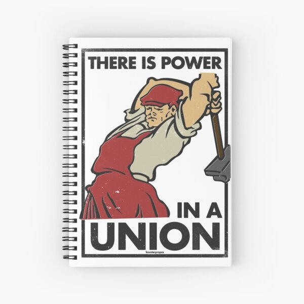 There Is Power in a Union (Vector Recreation) Spiral Notebook