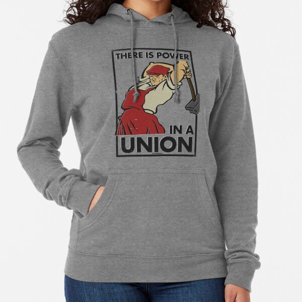 There Is Power in a Union (Vector Recreation) Lightweight Hoodie