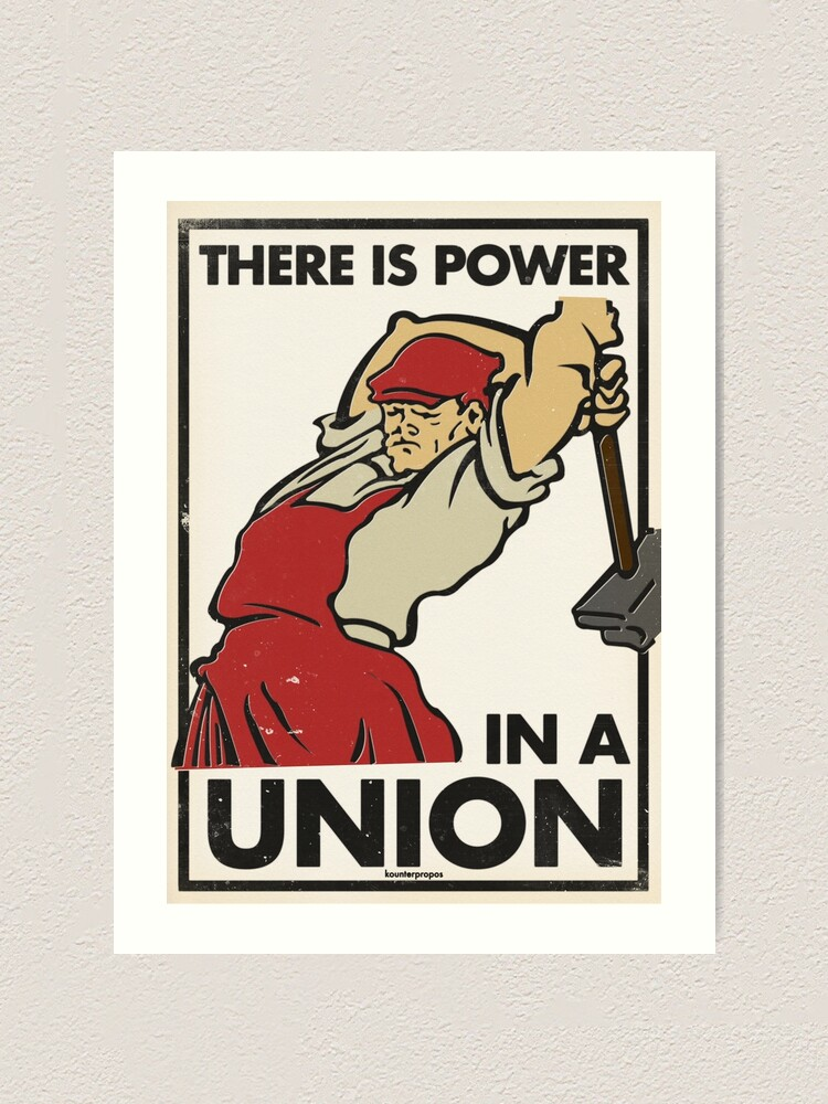 Alternate view of There Is Power in a Union (Vector Recreation) Art Print
