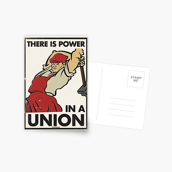 There Is Power in a Union (Vector Recreation) Postcard