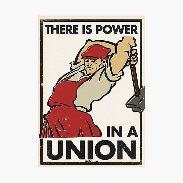 There Is Power in a Union (Vector Recreation) Photographic Print