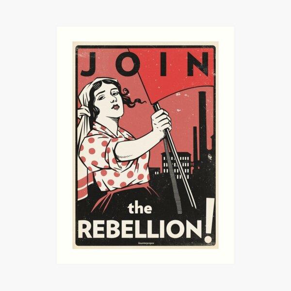 Join the Rebellion! (Vector Recreation) Art Print