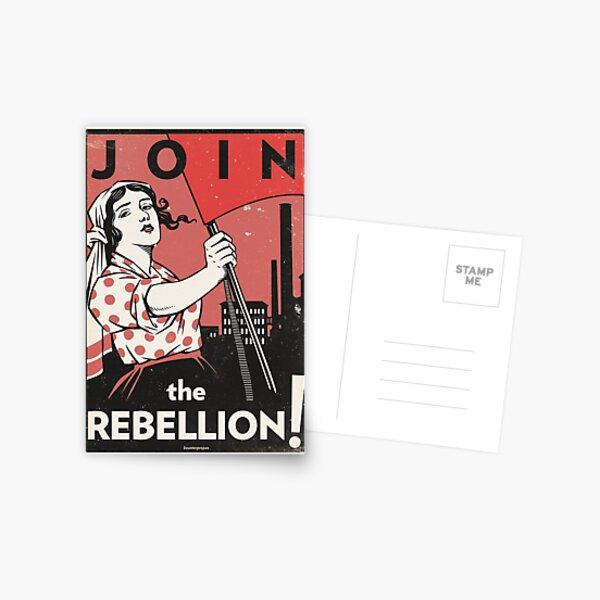 Join the Rebellion! (Vector Recreation) Postcard
