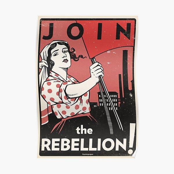 Mach mit bei der Rebellion! (Vektorerholung) Poster