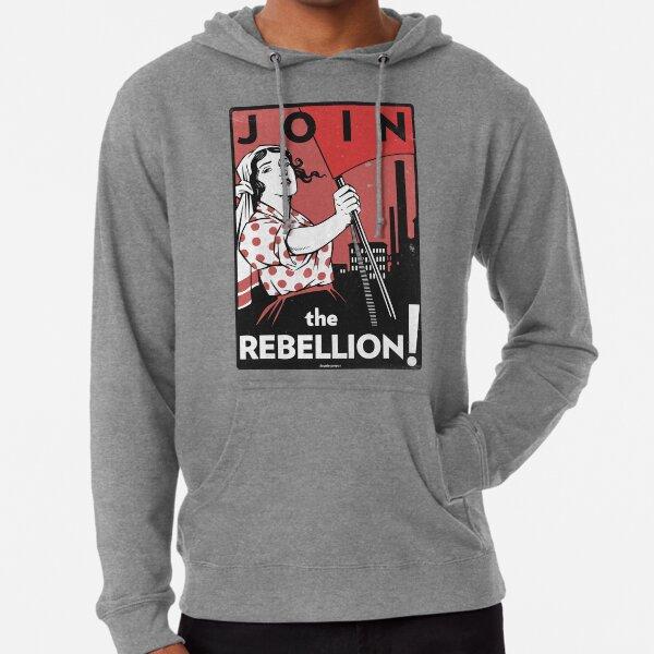 Join the Rebellion! (Vector Recreation) Lightweight Hoodie