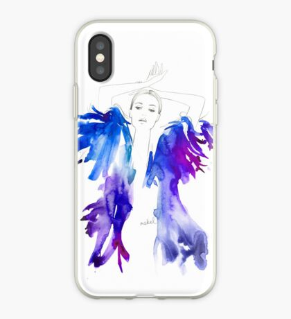 Magenta Feathers iPhone Case