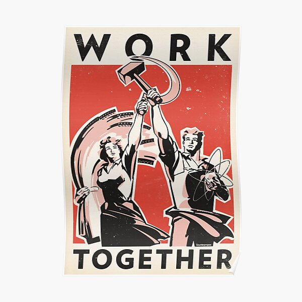 Work Together (Vector Recreation) Poster