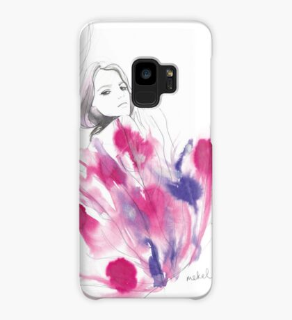 Magenta feathers Case/Skin for Samsung Galaxy