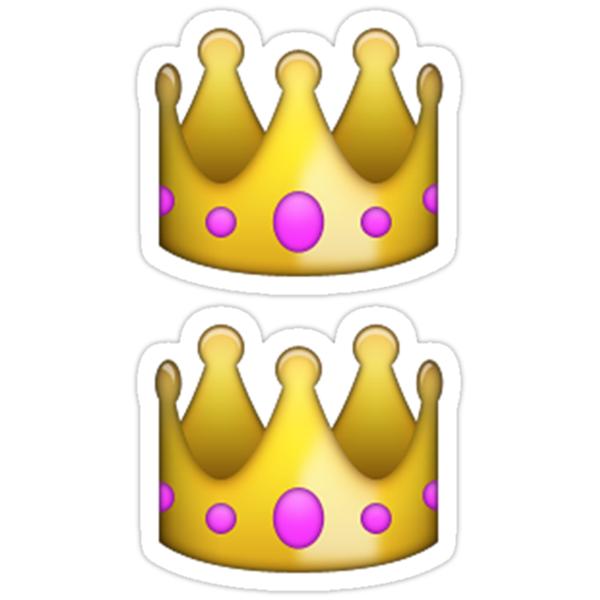 emoji crown stickers by emoji  redbubble