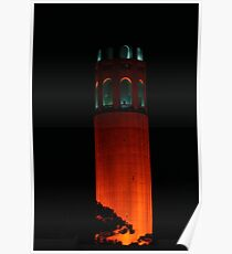 San Francisco Orange October Poster