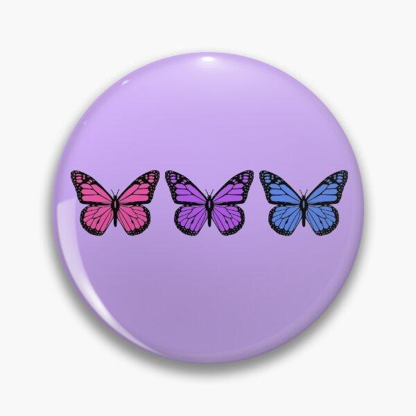 Schmetterlinge für Menschen mit klaren Handyhüllen Button