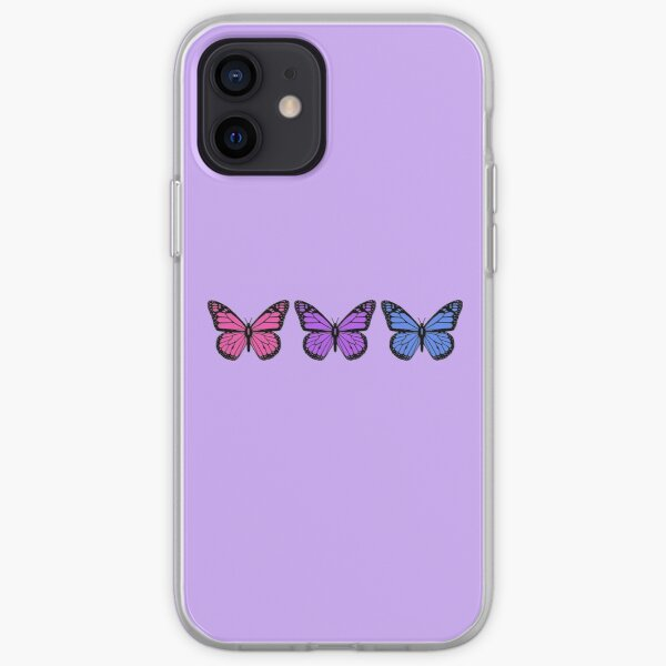 butterflies for people who have clear phone cases iPhone Soft Case
