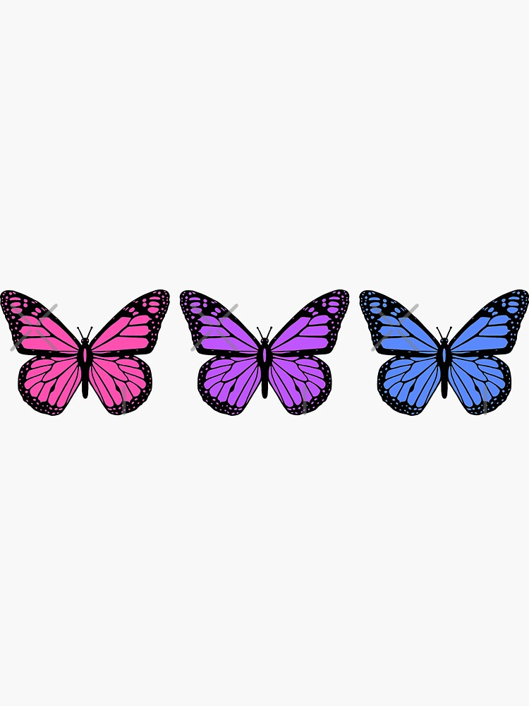 butterflies for people who have clear phone cases by discostickers