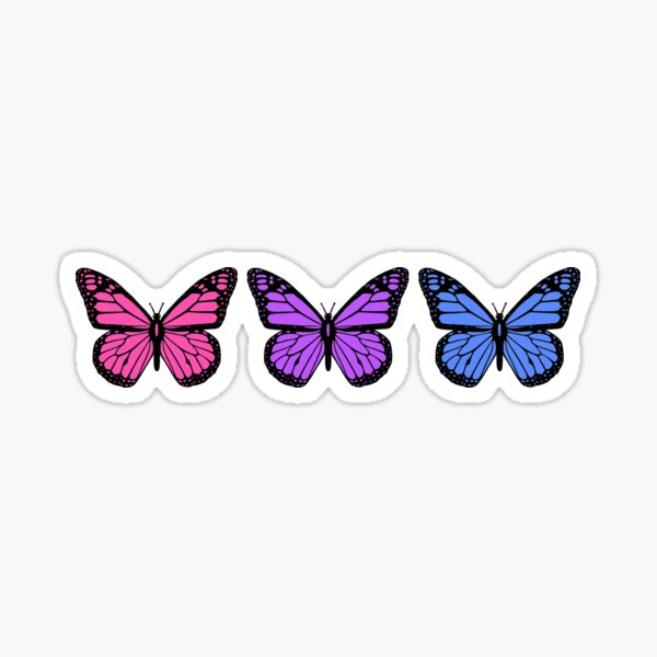 butterflies for people who have clear phone cases Sticker