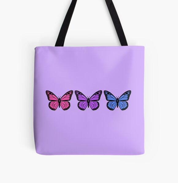 Schmetterlinge für Menschen mit klaren Handyhüllen Allover-Print Tote Bag
